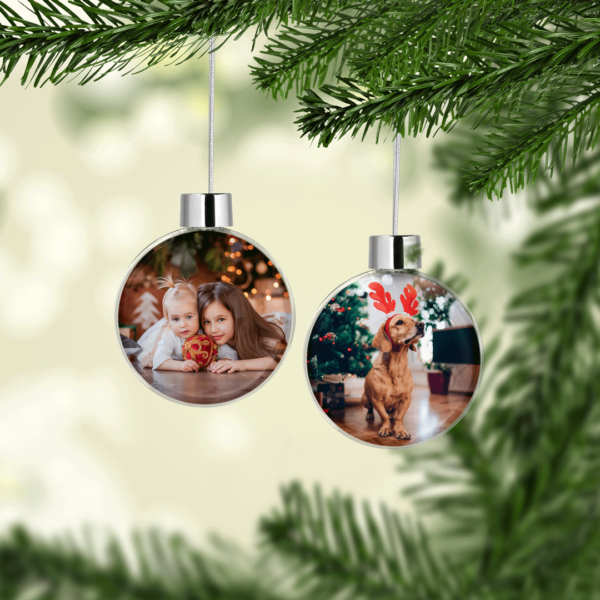 Personalised Christmas Photo Baubles Baby Shower Gifts