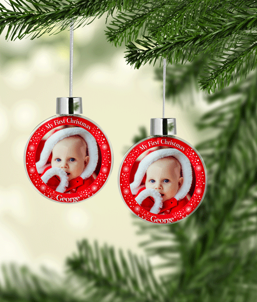 My First Christmas Photo Baubles Baby Shower Gifts