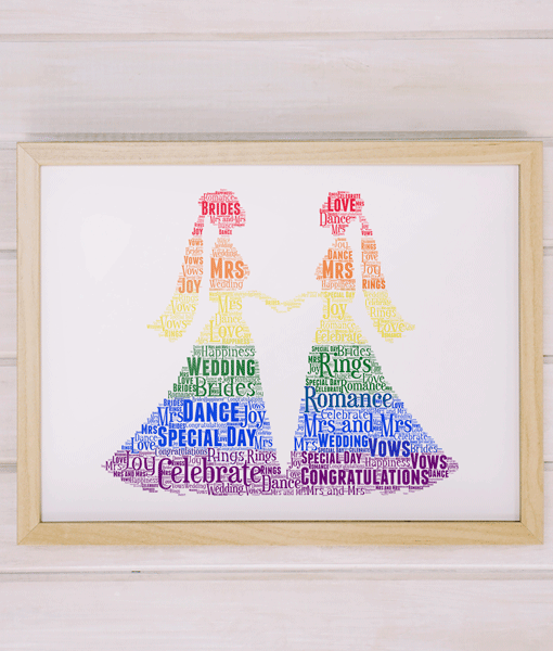 LGBT Gay Female Wedding Couple Gift Wedding Gifts