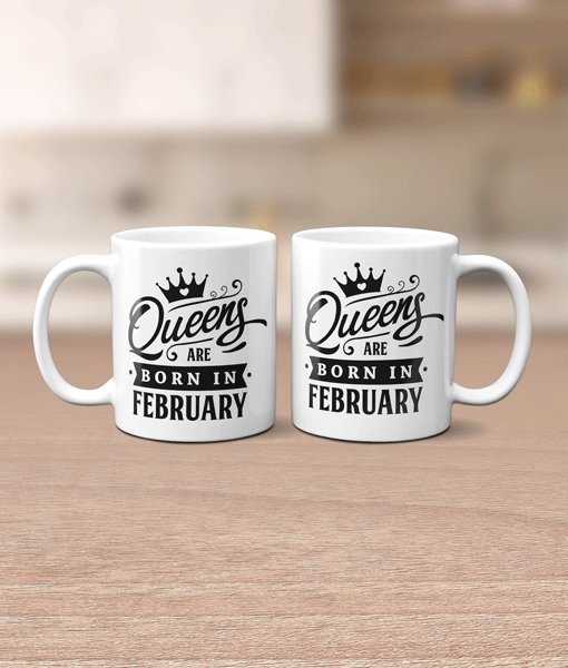 Mug – Queens Are Born In.. Birthday Gifts