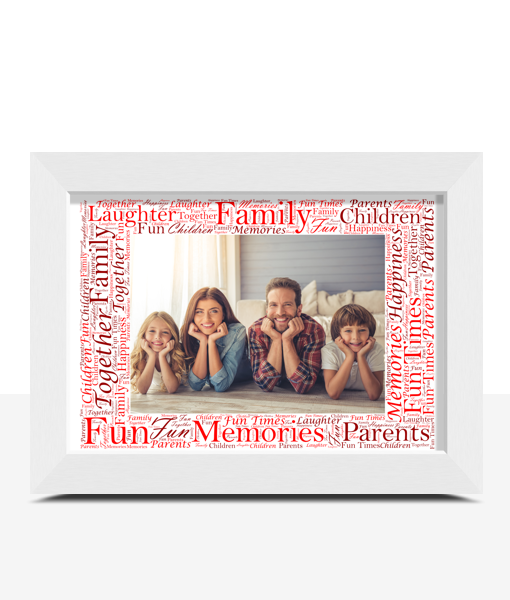 Word Art Photo Frame – Personalised Gift Anniversary Gifts