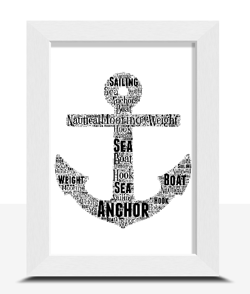 Anchor Word Art – Personalised Sailor Gift Sport Gifts