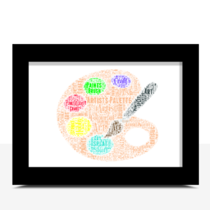 Personalised Artists Pallette Word Art Gift Graduation Gifts