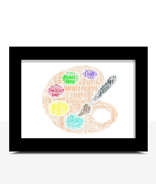 Personalised Artists Pallette Word Art Print Graduation Gifts