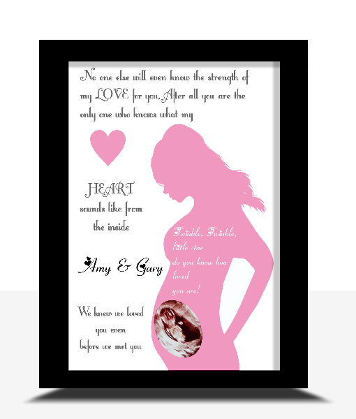 Personalised Baby Scan Photo Frame Baby Shower Gifts