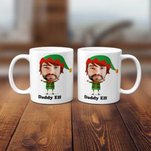 Christmas Elf Face Mug Birthday Gifts