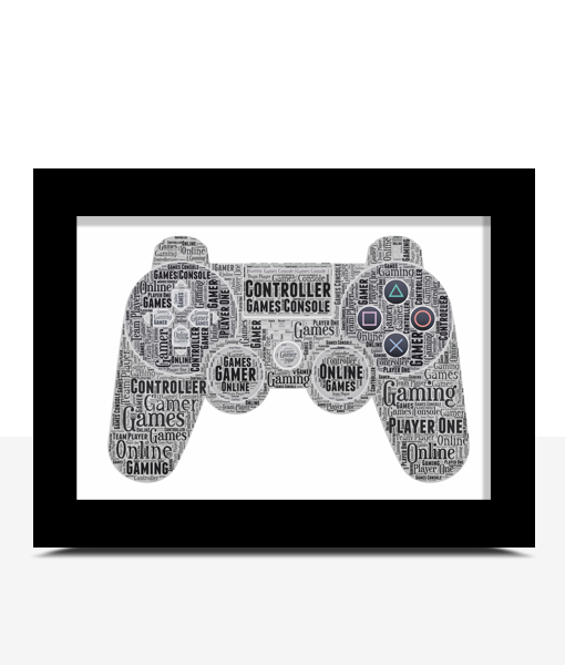 Personalised Gamer Word Art Gift Fathers Day Gifts