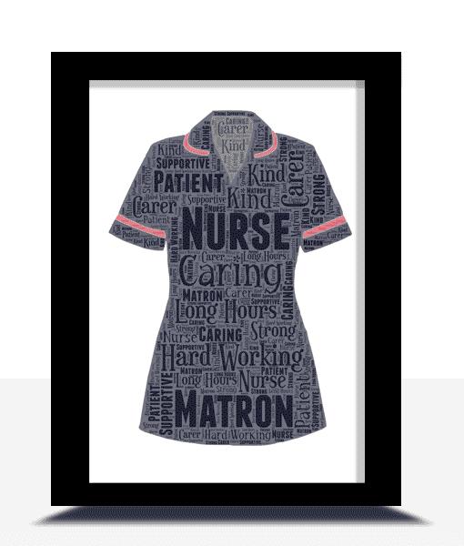 Matron Nurse Uniform Word Art Gift Retirement Gifts