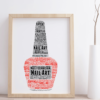 Personalised Beauty Therapist Gift – Nail Polish Word Art Gifts For Her