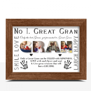 No 1 Great GRAN Personalised Photo Gift Gifts For Grandparents