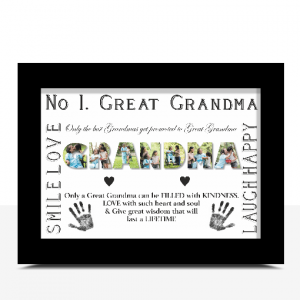 No 1 Great GRANDMA Personalised Photo Gift Gifts For Grandparents