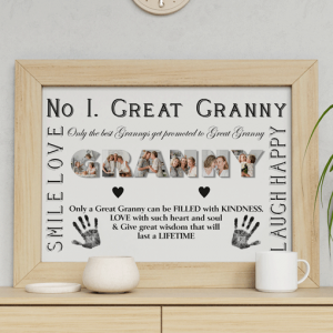 No 1 Great GRANNY Personalised Photo Gift Gifts For Grandparents