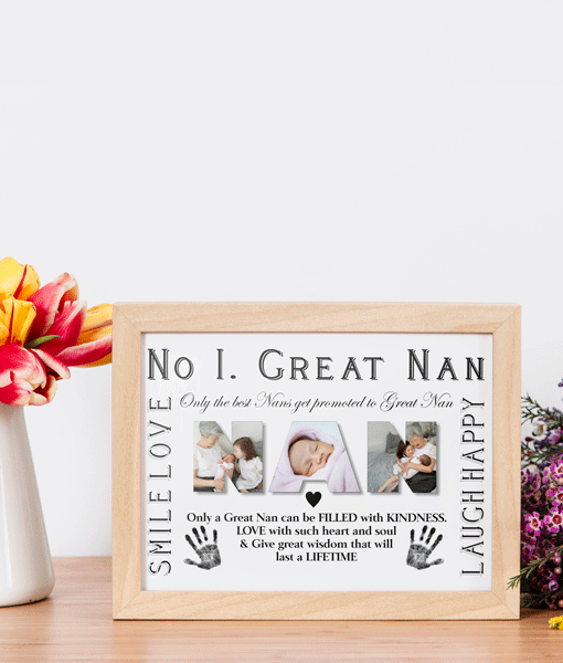 No 1 Great NAN Personalised Photo Gift Gifts For Grandparents