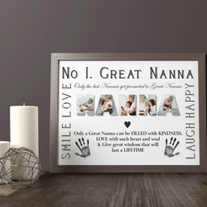 No 1 Great NANNA Personalised Photo Gift Gifts For Grandparents