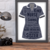 Sister Nurse Uniform Word Art Gift Retirement Gifts