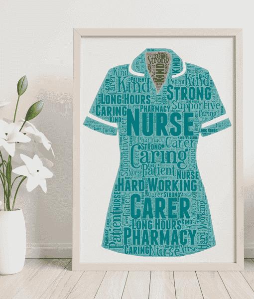Pharmacy Nurse Uniform Word Art Gift