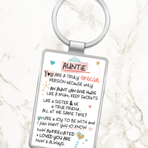 Auntie You Are A Truly Special Person – Metal Keyring Auntie