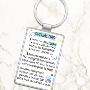 Special Dad – Metal Keyring Fathers Day Gifts