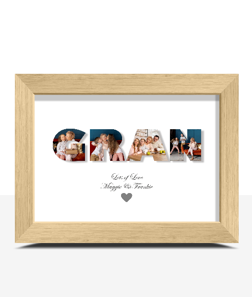 Personalised GRAN Photo Gift Gifts For Grandparents