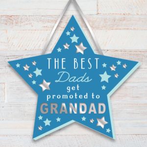 The Best Dads get promoted to Grandad – Grandad Star Plaque Fathers Day Gifts