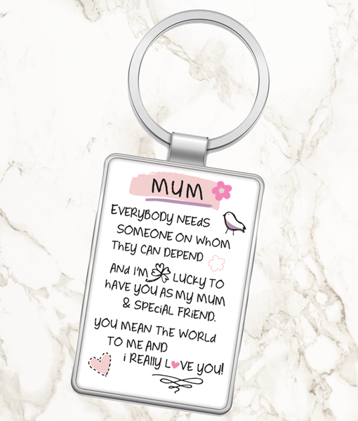Everybody Needs A Mum – Metal Keyring Gifts For Her
