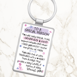 To A Special Person – Metal Keyring Birthday Gifts