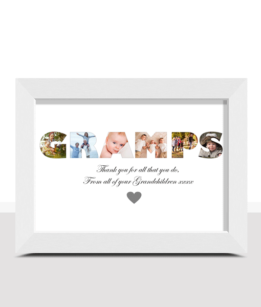 Personalised GRAMPS Photo Print Fathers Day Gifts