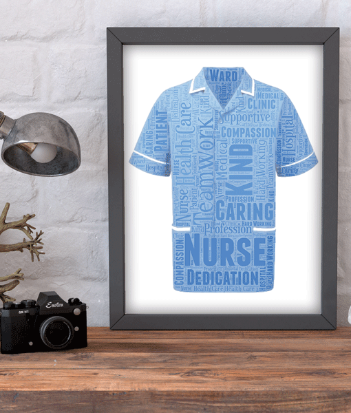 Male Nurse Word Art Gift Retirement Gifts
