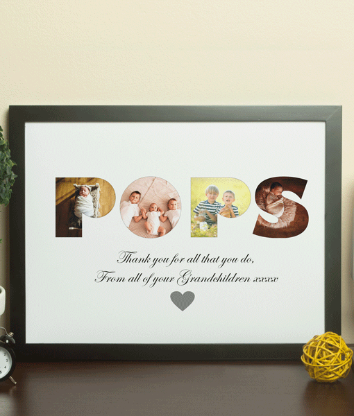 Personalised POPS Photo Gift Gifts For Grandparents