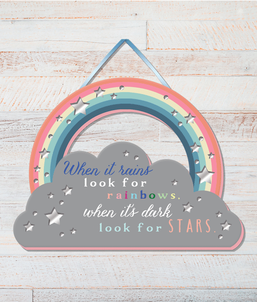 Rainbow – Positivity Plaque