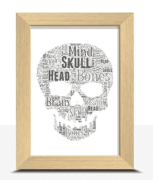 Personalised Skull Word Art Print