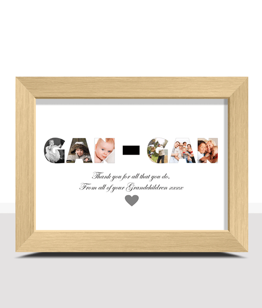 Personalised GAN GAN Photo Gift Print Fathers Day Gifts