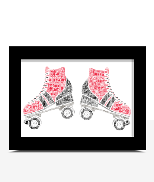 Personalised Roller Skates Word Art Gifts For Children
