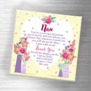 Thank You Nan – Fridge Magnet Gifts For Grandparents
