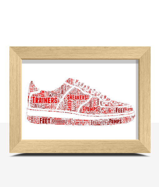 Personalised Running Shoes – Trainers Word Art Print Sport