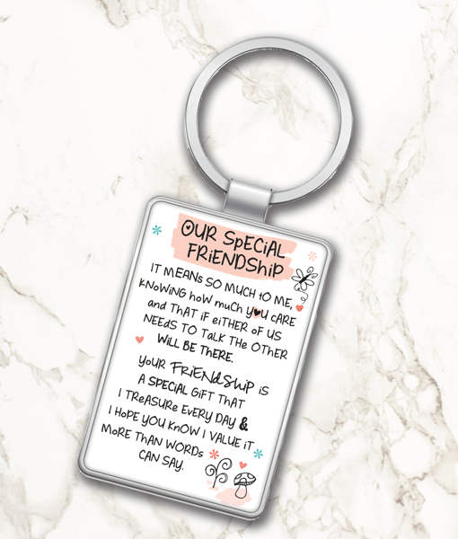 Our Special Friendship – Metal Keyring Gifts For Friends