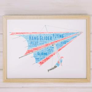 Personalised Hang Glider Word Art Sport