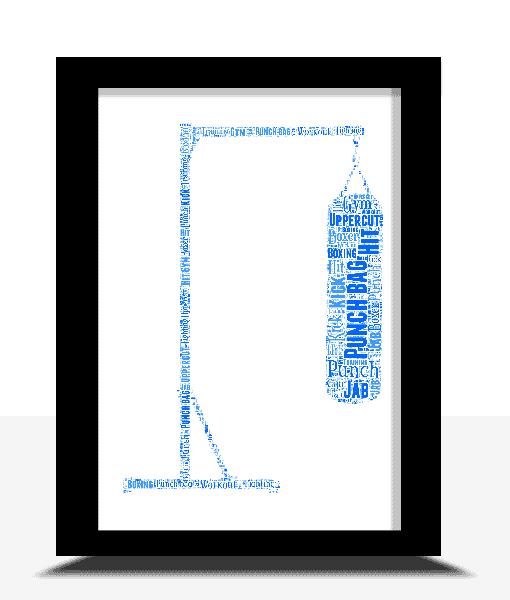 Personalised Punch Bag Word Art Print Sport
