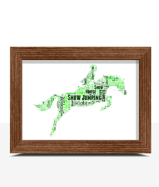 Showjumping Horse Word Art Print