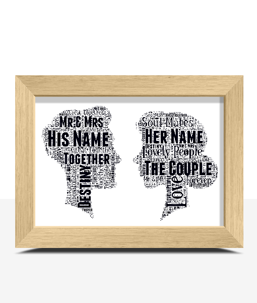 The Perfect Couple – Word Art Gift Gifts For Couples