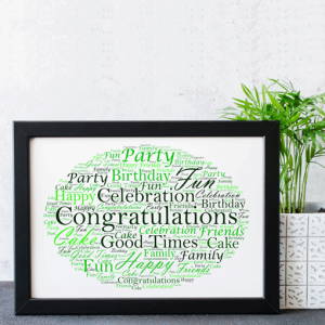Personalised Word Cloud Art Gift