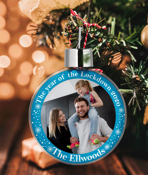 Family Christmas Photo Baubles – The year of the Lockdown 2020 Christmas