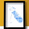 Personalised Golf Bag Word Art – Golfing Gift Sport