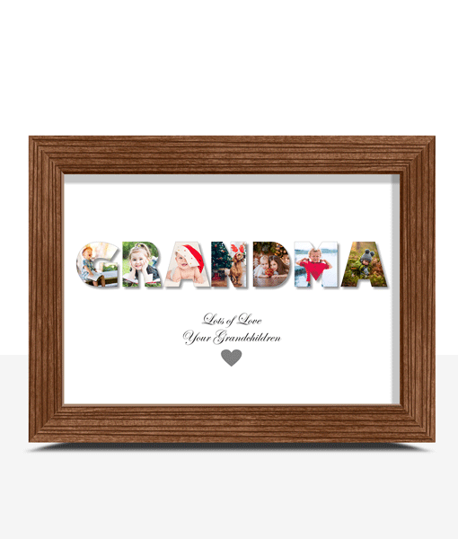Personalised GRANDMA Photo Gift Gifts For Grandparents