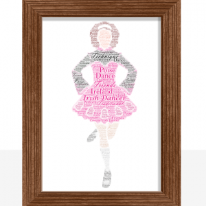 Personalised Irish Dancer Word Art Gift Dance