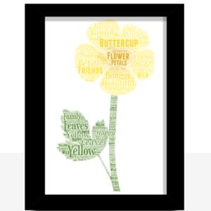 Buttercup Word Art Print
