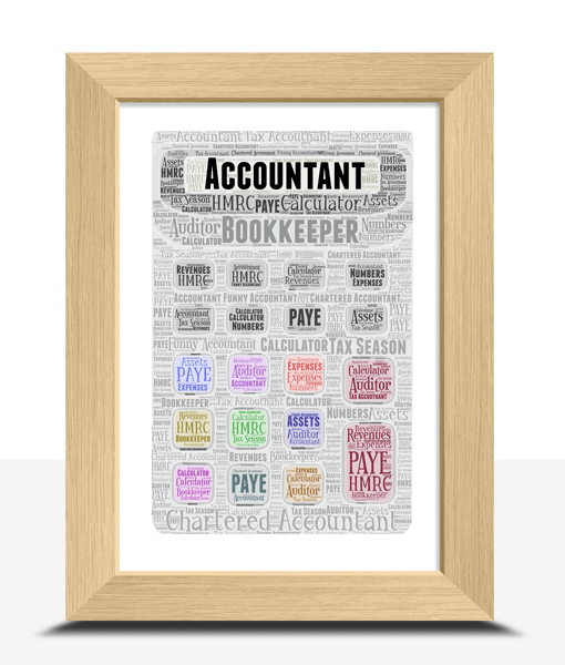 Personalised Calculator Word Art Print Teacher Gifts