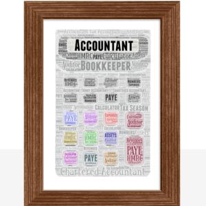 Personalised Calculator Word Art Print Teacher Gifts