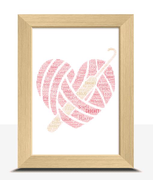 Personalised Crochet Word Art Gift