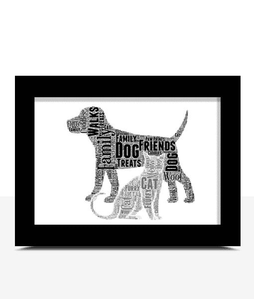 Pet Cat And Dog Word Art Print Animal Prints